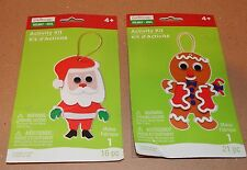 Christmas Craft Foam Activity Kits Creatology 37pc 2 pack Santa & Gingerman 93E
