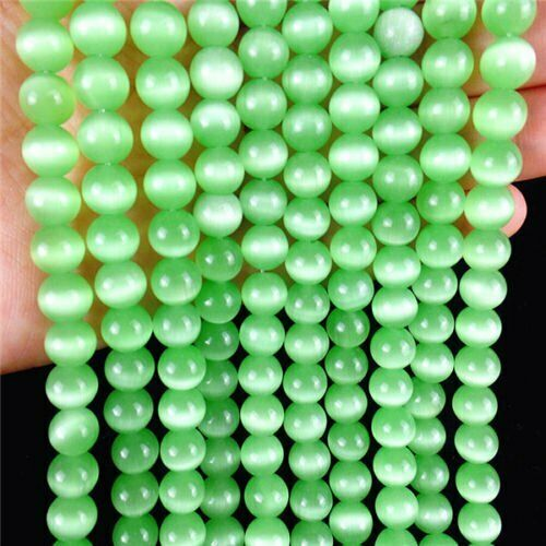 AE5085 environ 39.37 cm 1 Strand Choix multiples 8 mm Cat Eye Gemstone Ball Loose Beads 15.5 in