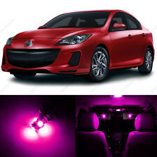 6 x Pink/Purple LED Interior Lights Package For 2010 - 2013 Mazda 3 MS3 Sedan