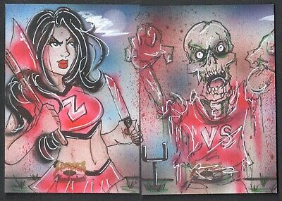 5finity Zombies vs Cheerleaders 2013 Sketch Card by Mark