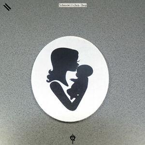 """FidèLe Blanche Neige-shop Matériau - 3 Pièces Buttons Mère Avec Enfant Noir Pour À Faire Soi-même--shop Material - 3 Stück Buttons Mutter Mit Kind Schwarz Für Diy"""" afficher Le Titre D'origine"""