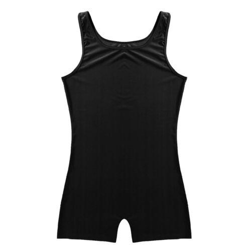 Men/'s Lycra Spandex Gym Bodysuit Dance Leotard Unitard Biketard Singlet Boxers