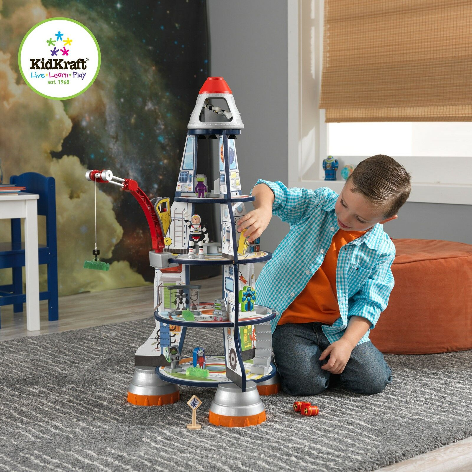 Kidkraft Madera Cohete Espacial Barco Infantil Nave Nave Nave Espacial Woooden Juguete  mejor vendido