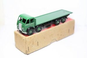 Dinky-502-Foden-Flat-Truck-1st-Cab-Green-In-Its-Original-Box-Near-Mint-Vintage