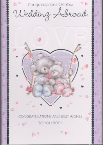 Wedding Abroad Wedding Card ~ Congratulations On Your Wedding Abroad