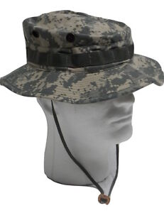b439d2a874c USGI ARMY ISSUE ACU DIGITAL BOONIE HAT BUCKET CAP SUN COVER HEADGEAR ...