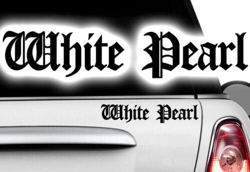 2x white black pearl Ninja KTM voiture moto autocollant JDM OEM tuning DUB