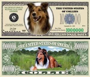 FREE SLEEVE Blood Hound Dog Million Dollar Bill Fake Funny Money Novelty Note