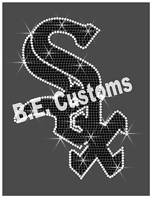 "Iron On, Rhinestone Transfer /""Chicago White Sox MLB/"" Hotfix"