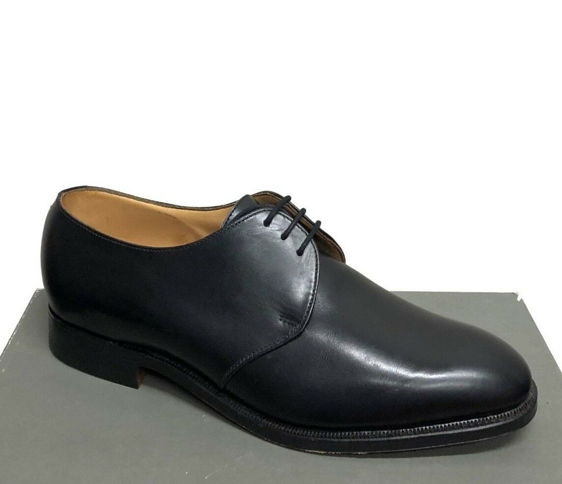 648 Peal & Co by Alfred Ssilver Black Plain Toe Gibson New Men's shoes Size 8.5