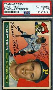 Jake Thies PSA DNA Coa Autograph 1955 Topps Hand Signed