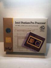 "Intel Pentium Pro CPU NEW in Box Vintage Collectible Rare HIGH GOLD Scrap ""NO"""