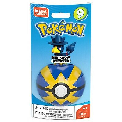 Pokemon Mega Construx Murkrow Poke Ball Series 9 Cornebre