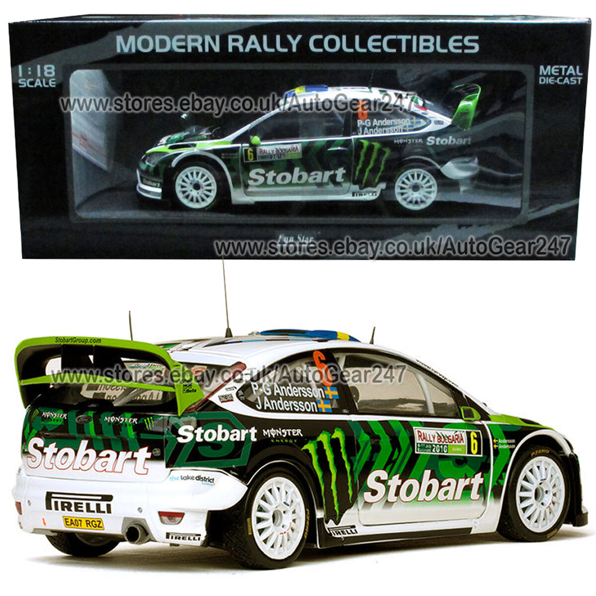 Stobart Ford Focus RS WRC 8 P-G & A Andersson Rally Bulgaria 2010 1 18 Model