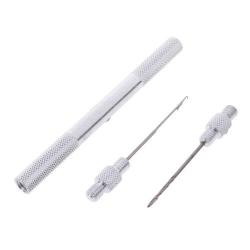 1 stück Aluminium Nadel mit Bohrer Fischköder Werkzeug Köder AngelgeFT