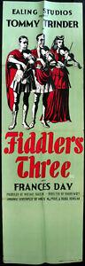 FIDDLERS-THREE-1944-Tommy-Trinder-ERIC-FRASER-UK-EALING-QUAD-POSTER