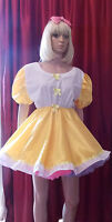 Short Adult Baby Dress Fancy Dress Sissy Lolita Cosplay Anglais Front And Collar