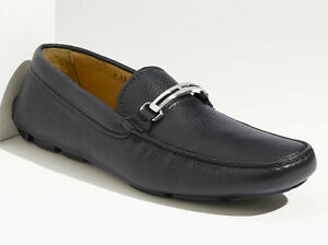 d11d98b5b10 PRADA Mens Navy Blue Leather Driving Shoes Size UK 7.5 US 8.5 Loafer ...