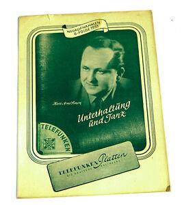 Periodika & Kataloge k112 Sonstige Telefunken Platten Katalog Neuaufnahmen 8.folge 1951