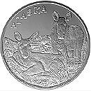 Alaska Mint Moose /& Calf Silver Medallion Proof 1Oz