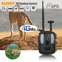 Hot Bl480lp Trail 4g Network Hunting Camera 12mp Gps Wildlife Scouting Farm Hunt