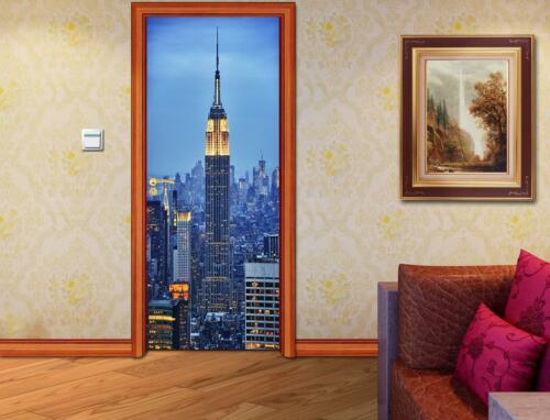 New York City DOOR WRAP Decal Wall Sticker Mural Personalized ANY NAME D85