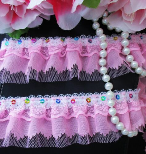 price by the yard //select color// Lovely 4 layer ruffled lace trim