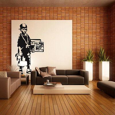 Banksy Wandtattoo Wandaufkleber Wandsticker decal sticker aufkleber deko blumen