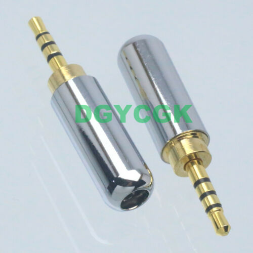 1pce 2.5mm Plug TRRS 4-Pole stereo Audio AV 3-4mm cable Connector welding DIY