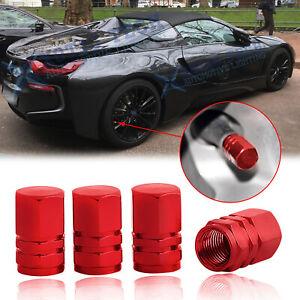 Details about  /4pcs Red 45mm Aluminum Spiked Car Wheel Tire Valve Air Stem Dust Caps Cover Kit