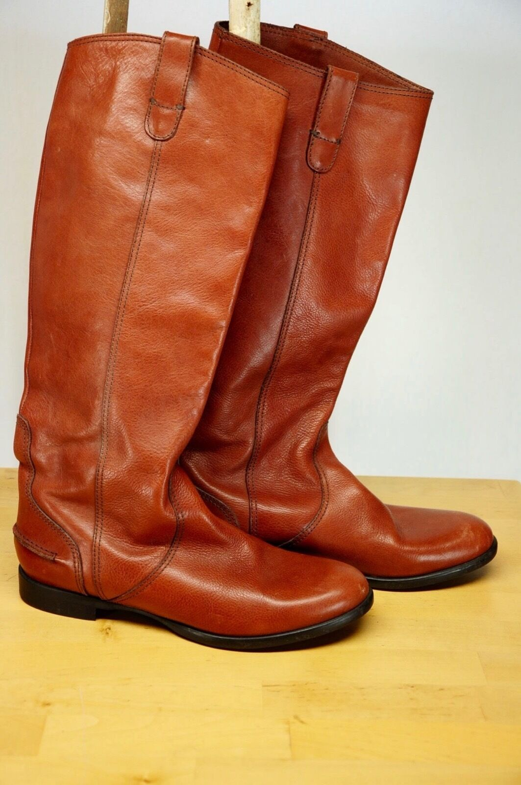 NEW MADEWELL 1937 Brown HIGH Leather Equestrian RIDING BOOTS Made Italy US 9.5