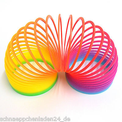 Regenbogenspirale bunte Springfeder Ø 7,5 x 6,3 cm