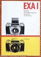 IHAGEE DRESDEN Kamera Prospekt EXA I Modell 63 Broschüre von 1961 (X3012