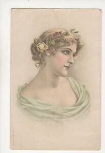 Glamour-Vintage-U-B-Chromo-Litho-Postcard-Germany-179b