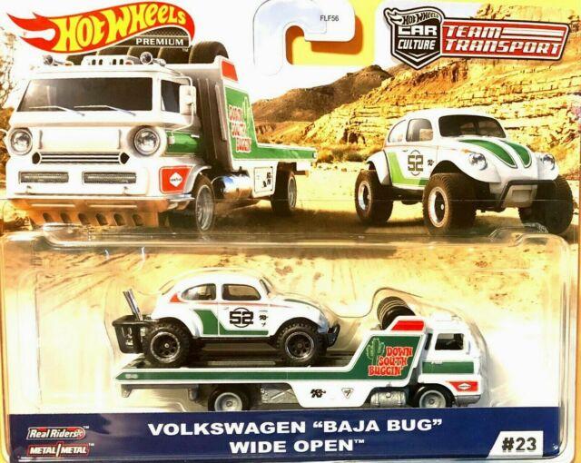 Volkswagen Baja Bug Wide Open Hauler Hot Wheels Team Transport #23