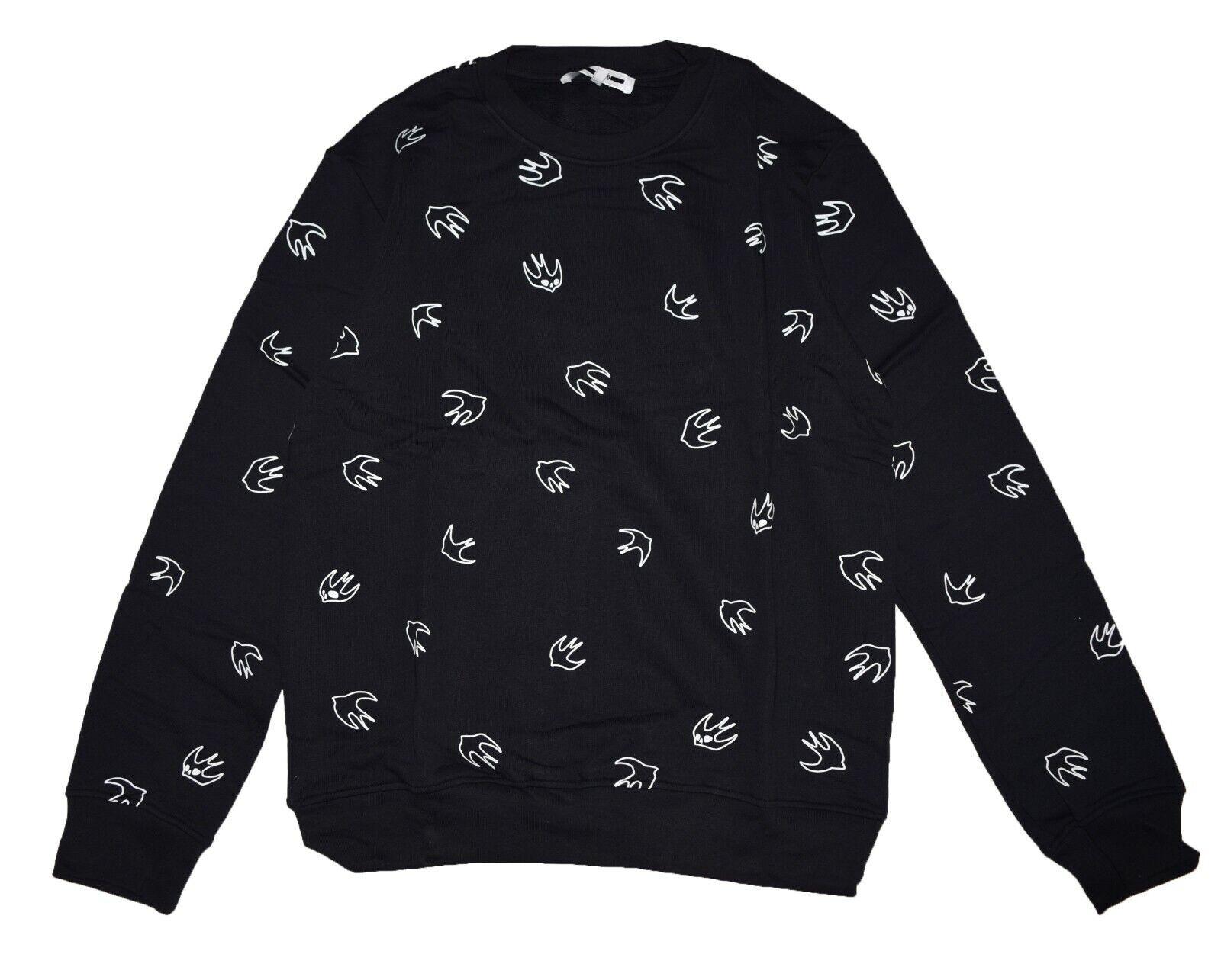 McQ Alexander McQueen Signature Swallow Print Sweatshirt BLACK Size XL
