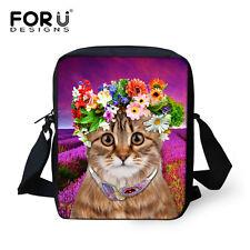 Lady Cat Cross Body Bags Sling Bag Handbag Polyester Satchel For Women's Gifts