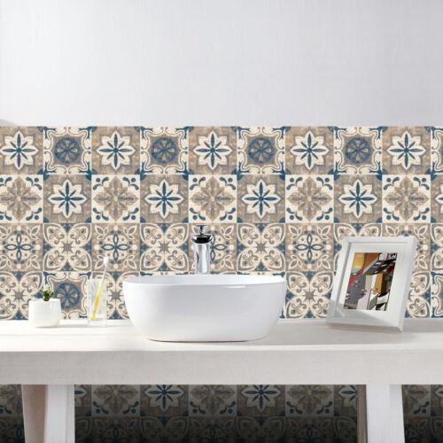 Kitchen Bathroom Tile Mosaic Stickers Self-adhesive Waterproof Home Wall Decor
