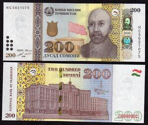 Tajikistan  - 200 somoni 2018, N E W , UNC