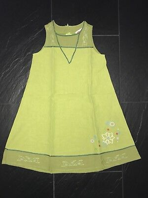 *w.neu* Catimini Kleid Sommerkleid - Gr 128 / 8 Jahre (126 / 8 A) - Grün Blumen