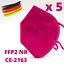 Indexbild 12 - ✅5 Stk FFP2 Maske Bunt Farbig 5-Lagig Atemschutz DEUTSCHER HÄNDLER ✅ TÜV ✅ CE ✅
