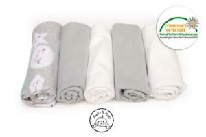 Reusable-Flannel-Squares-Set-of-5-Size-70-x-80-cm-Use-as-Nappies-Towels