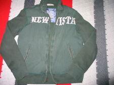 GAP Men's Thick Cotton Zip Up Athletic Jacket Green  With Hidden Hoodie S