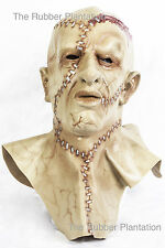Frankenstein Mask 2 Guns Halloween Full Head Fancy Dress Costume Two Zombie
