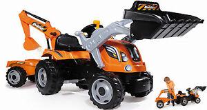 Smoby-Trettraktor-Tretfahrzeug-Max-Builder-Kindertraktor-Traktor-fuer-Kinder-NEU