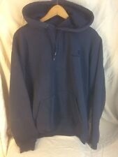 CARHARTT sweatshirt size M navy blue with embroidered logo hoodie pocket