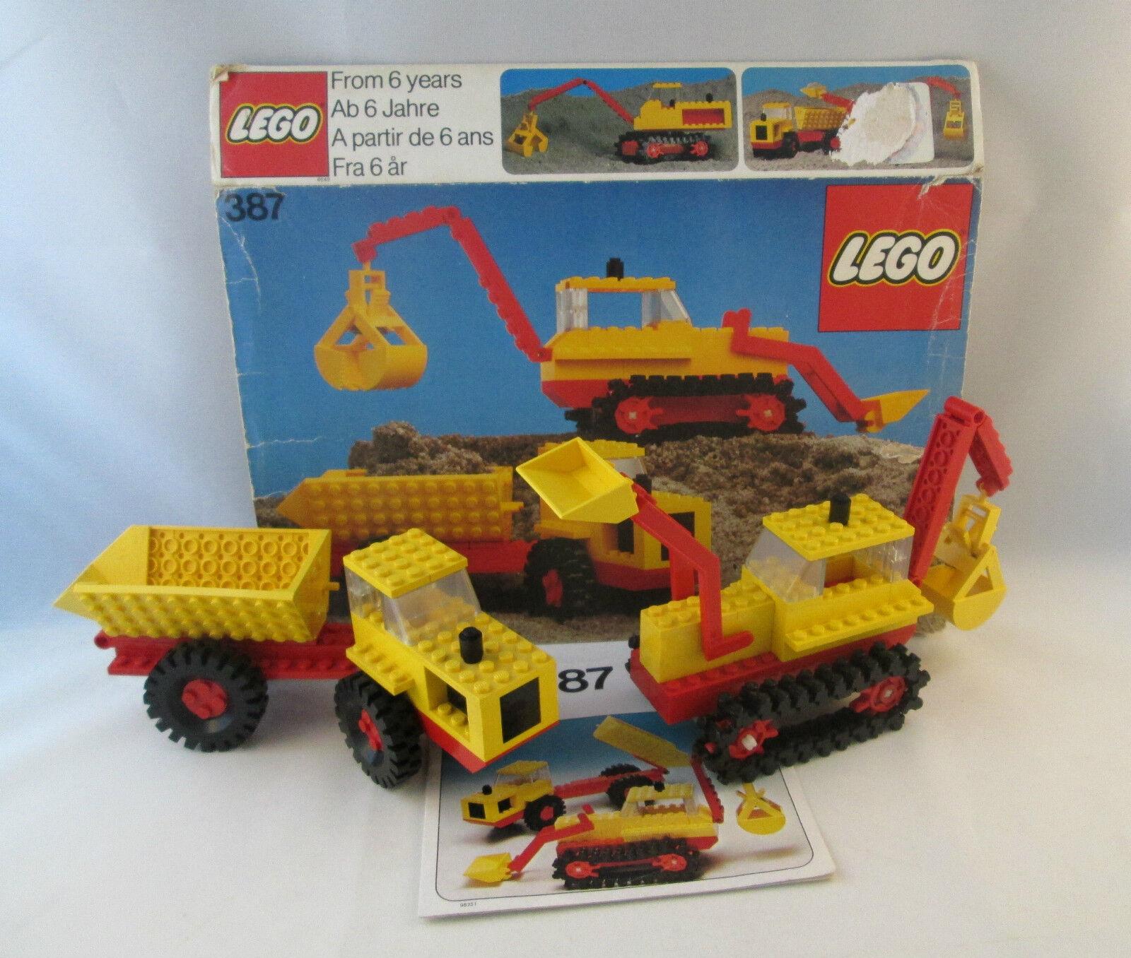 Lego Lego Lego Legoland Construction - 387 Excavator and Dumper e45684