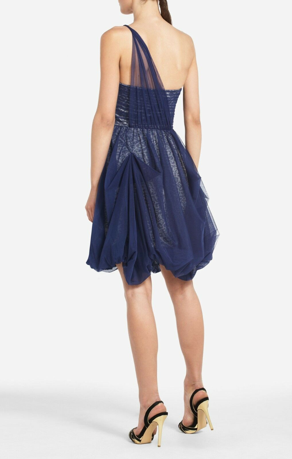 NEW BCBG MAX AZRIA DARK DARK DARK COBALT ROE ONE SHOULDER NST6P866 M200 DRESS SIZE 2 8778f9