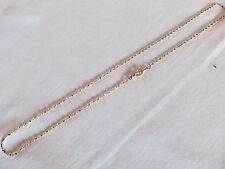 "Aurum Clad (Gold Plated) Diamond Cut GP Womens Girls 18"" Necklace Chain"