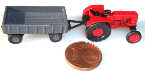 Tractor + remolque 1/120 TT metal pequeña serie DDR # â *.